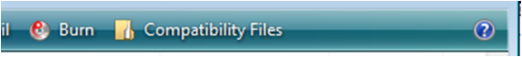 Compatibility Files button from Windows Vista