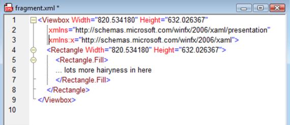 XML fragment